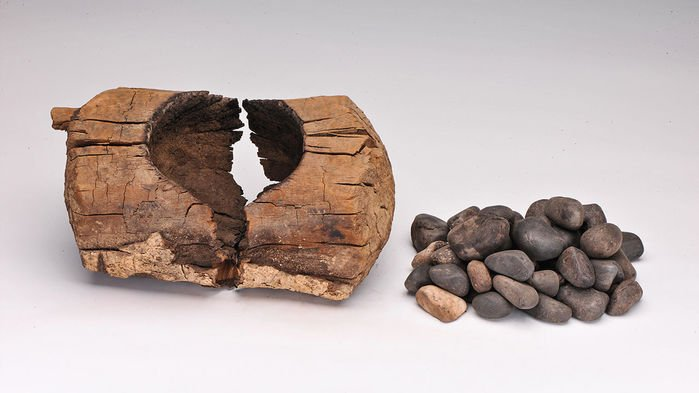 Ancient people put cannabis leaves and hot stones in this brazier, and likely inhaled the resulting smoke. XINHUA WU.jpg